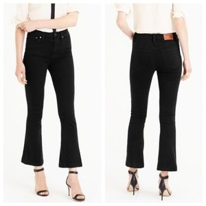 J.Crew Billie Demi Boot Crop Jeans, Black, sz 25